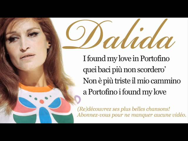Dalida – Love in Portofino – Paroles (Lyrics)