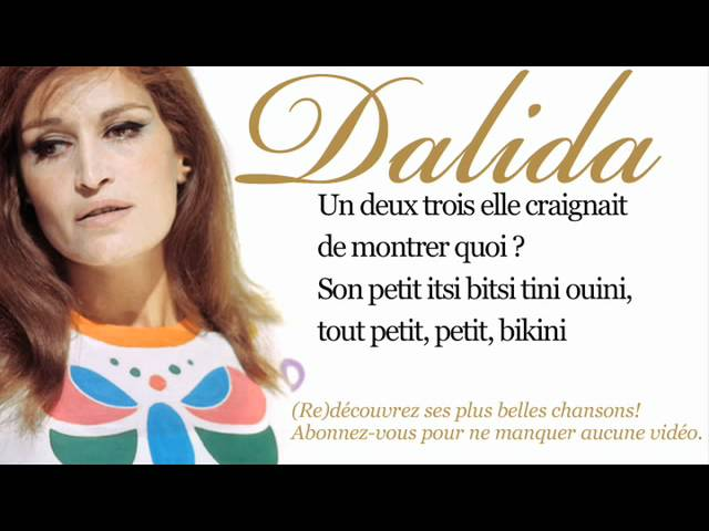Dalida – Itsi bitsi petit bikini – Paroles (Lyrics)