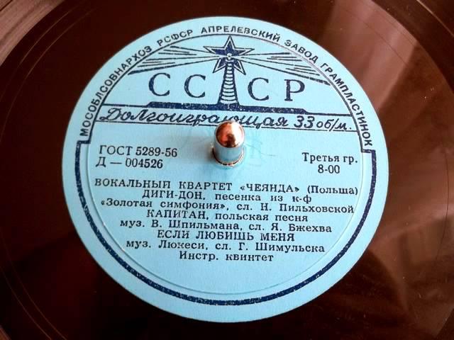 Chór Czejanda – Piosenka o kapitanie (1958)